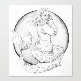 LUCY mermaid Canvas Print