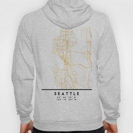 SEATTLE WASHINGTON CITY STREET MAP ART Hoody