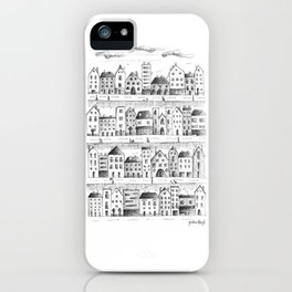 Cityscape from baloon flight iPhone Case
