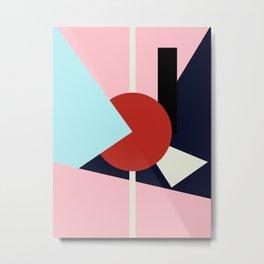 Circle Series - Red Circle No. 4 Metal Print