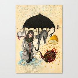 Rainy Days #1 Canvas Print