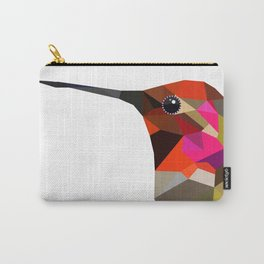 Pink hummingbird portrait Carry-All Pouch