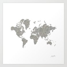 World News Art Print