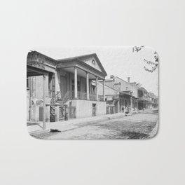 Chartres Street, Vieux Carre, New Orleans, Louisiana 1906 Bath Mat