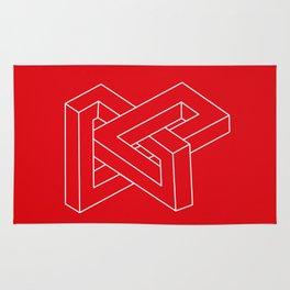 Optical illusion - Impossible figure Rug
