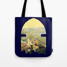 Vintage Litho Travel ad Assisi Italy Tote Bag