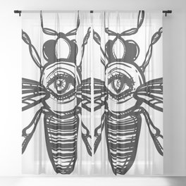occult bees Sheer Curtain