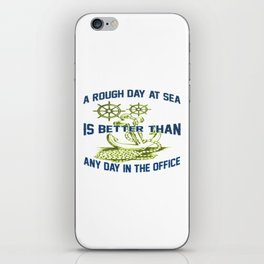 ROUGH DAY AT SEA iPhone Skin