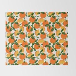 Oranges and Lemons Throw Blanket