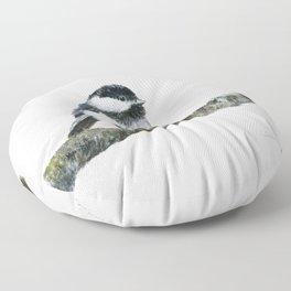 Black-capped Chickadee by Teresa Thompson Floor Pillow