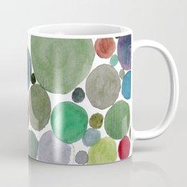 Green dots heart Coffee Mug