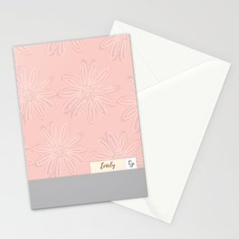 Emily - Grey & Blush Stationery Cards