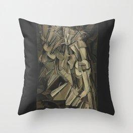 Marcel Duchamp - Nude Descending a Staircase, No. 2 Throw Pillow