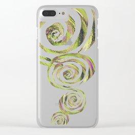 Spiral nature Clear iPhone Case
