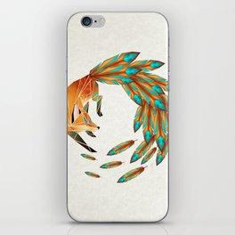 fox circle iPhone Skin