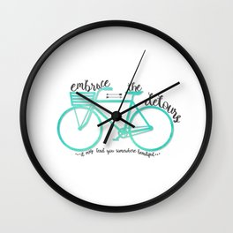 Embrace the Detours Wall Clock