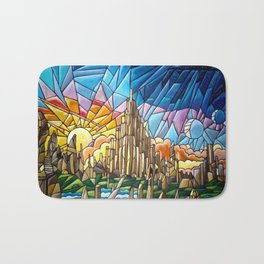 Asgard stained glass style Bath Mat
