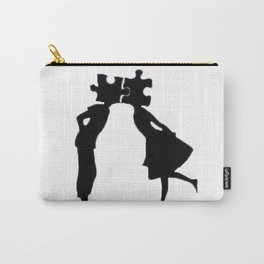 Puzzle Woman Man Carry-All Pouch