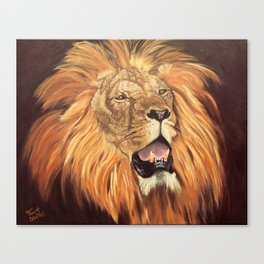 Brave Lion Canvas Print