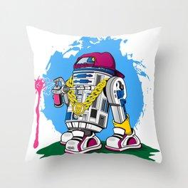 Street Art2D2 Throw Pillow