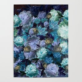 """""""Baroque floral with bugs"""" Poster"""