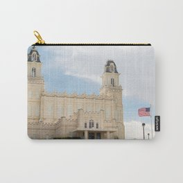 Manti Utah LDS Temple Carry-All Pouch