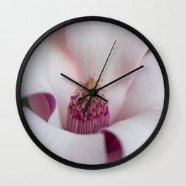 Pink Petals Wall Clock