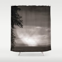 Rainy Plain Shower Curtain