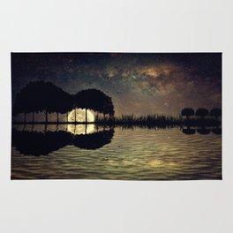 guitar island moonlight Rug