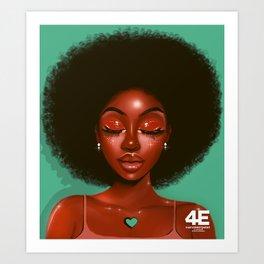 HAIR GOALS Art Print