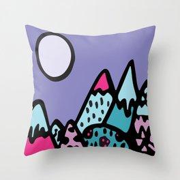 Mountains print  Throw Pillow