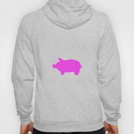 Pink Piglet For Funny People Hoody