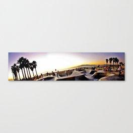 venice beach skatepark in panoramic mode Canvas Print