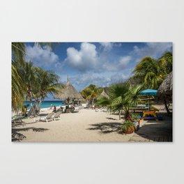 Curacao - Caribbean Island Beach Scene Canvas Print