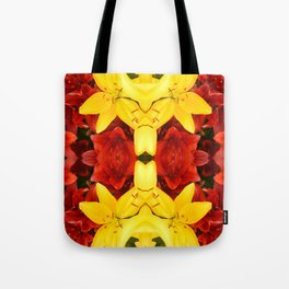 """""""A Gathering of Lilies"""" Remix - 1 (4-1) [D4465~12] Tote Bag"""