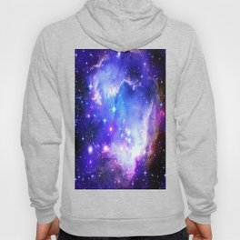 Galaxy Nebula Blue Hoody