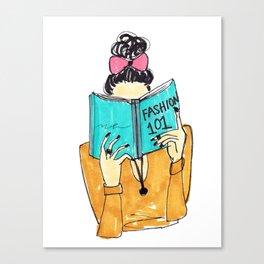 Fashion Print, Fashion 101, Fashion Illustration Print, Pinales Illustrated Canvas Print