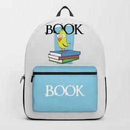 Book (black txt) Backpack