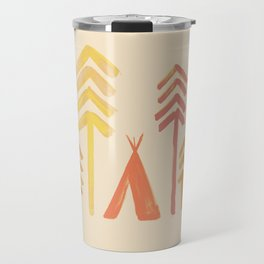 Tepee in the forest Travel Mug