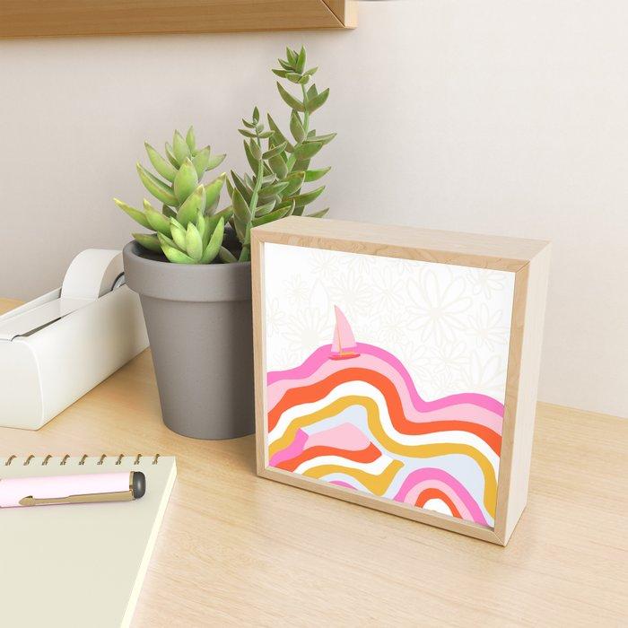catalina, sailing waves Framed Mini Art Print