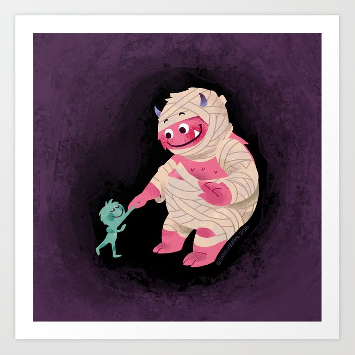 Wrapped Up In Halloween Art Print