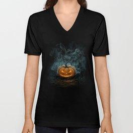 Halloween Pumpkin Unisex V-Neck