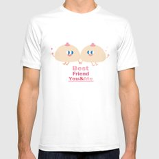 best friend-you and me MEDIUM Mens Fitted Tee White