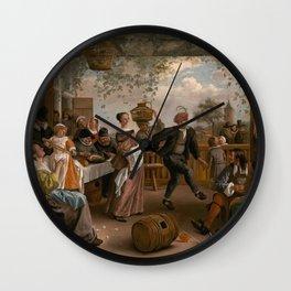 The Dancing Couple - Jan Steen Wall Clock
