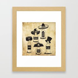 Drinking History Framed Art Print