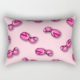 Pink Sunglasses Rectangular Pillow