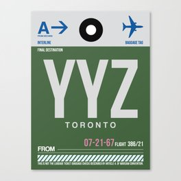 YYZ Toronto Luggage Tag 1 Canvas Print