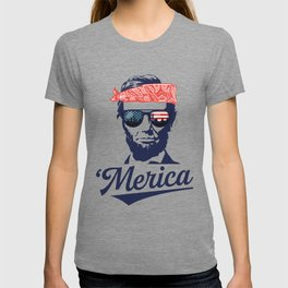 Merica Abraham Lincoln T-shirt