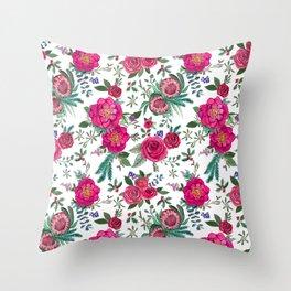 Fall Floral / Autumn flowers Throw Pillow