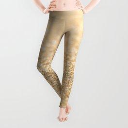 Beautiful champagne gold glitter sparkles Leggings